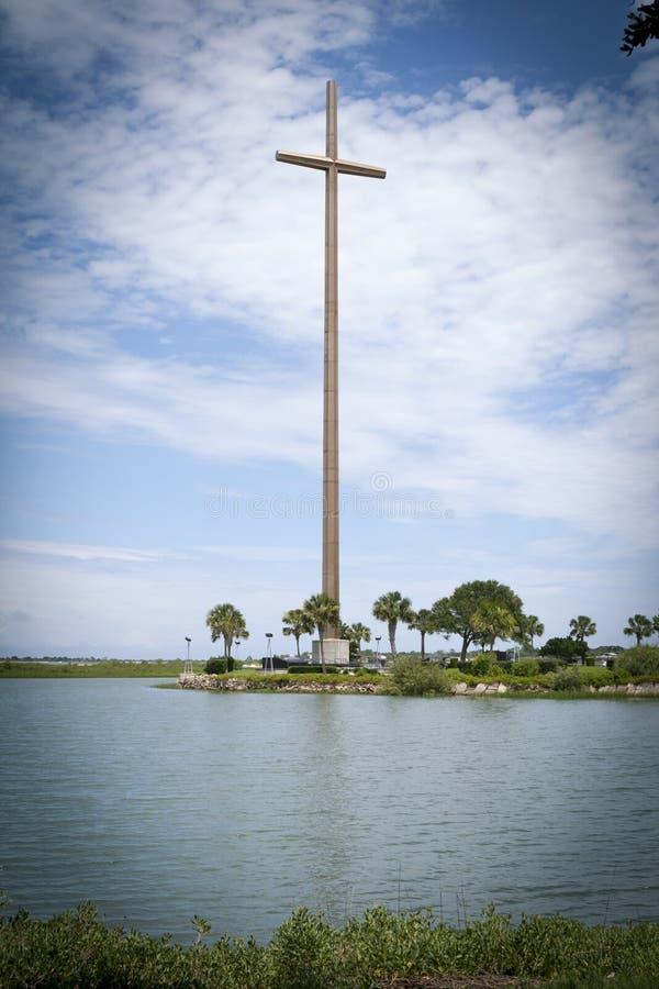 Historyczny Duży krzyża St Augustine Floryda zdjęcia stock