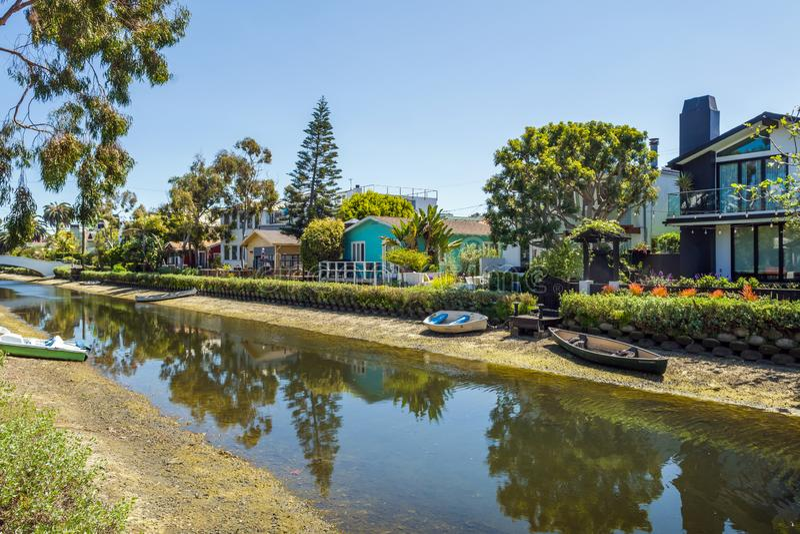 Historyczny Dystrykt Kanału Weneckiego w Los Angeles Stany Zjednoczone zdjęcie royalty free