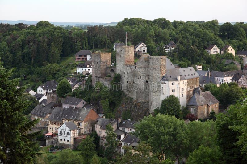 Historyczny forteca w Grodzkim Runkel, Niemcy fotografia royalty free
