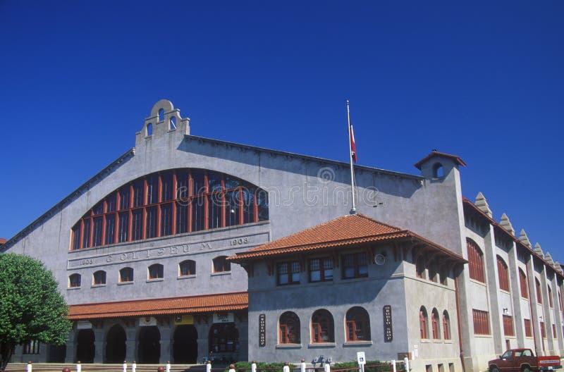 Historyczny Ft Warty Teksas kolosseum budującego w 1908 fotografia stock