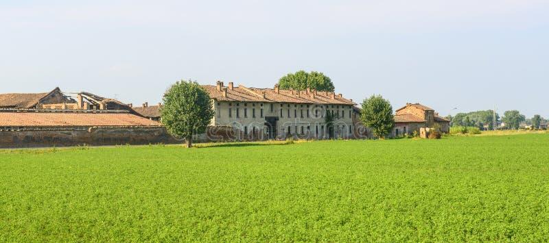 Historyczny gospodarstwo rolne blisko Pavia zdjęcia stock