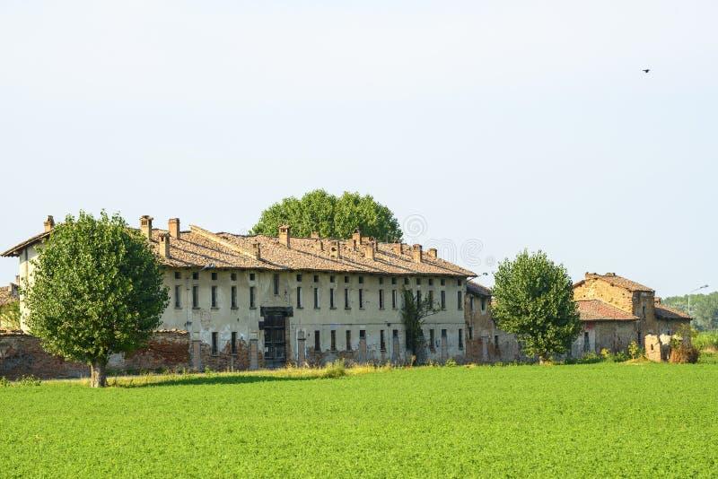 Historyczny gospodarstwo rolne blisko Pavia obrazy stock