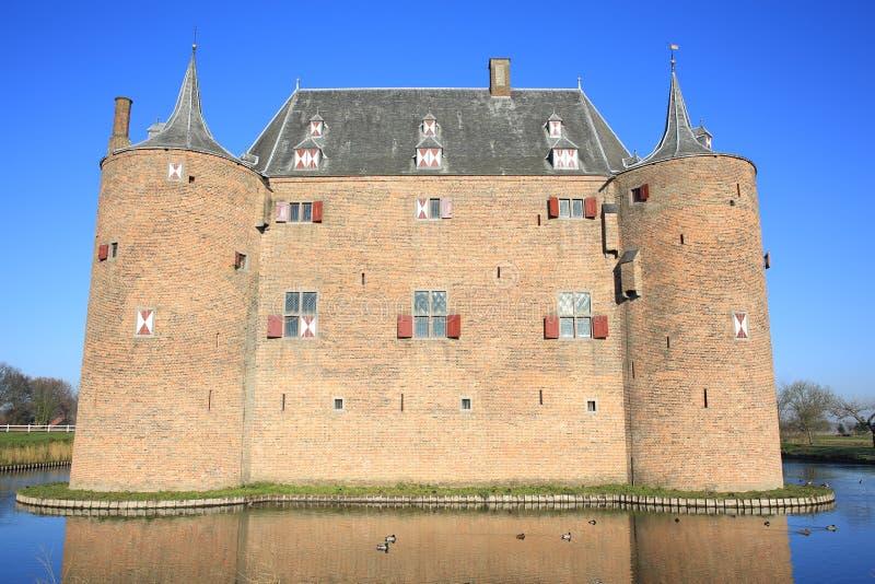 Historyczny Grodowy Ammersoyen holandie fotografia royalty free