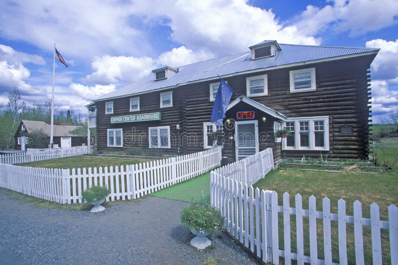 Historyczny groszaka centrum w St Elias parku narodowym, Wrangell, Alaska fotografia royalty free