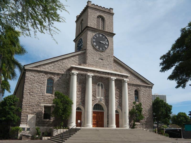 historyczny Hawaii kościelny kawaiahao Honolulu obrazy stock