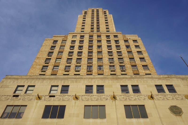 Historyczny Hilton Netherland placu hotel w Carew wierza, Cincinnati zdjęcie royalty free