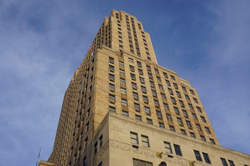 Historyczny Hilton Netherland placu hotel w Carew wierza, Cincinnati fotografia royalty free