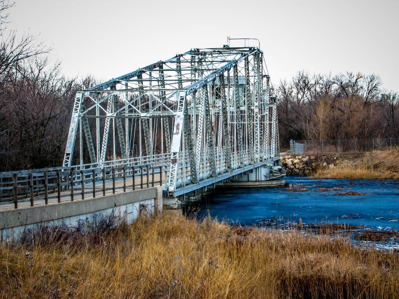 Historyczny Huśtawkowy most zdjęcie stock