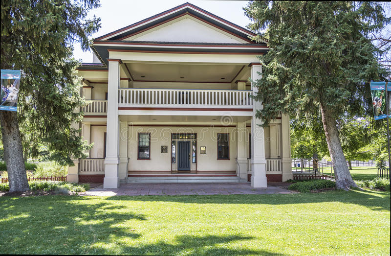 Historyczny Isaac pościg dom w Salt Lake City Utah obrazy stock