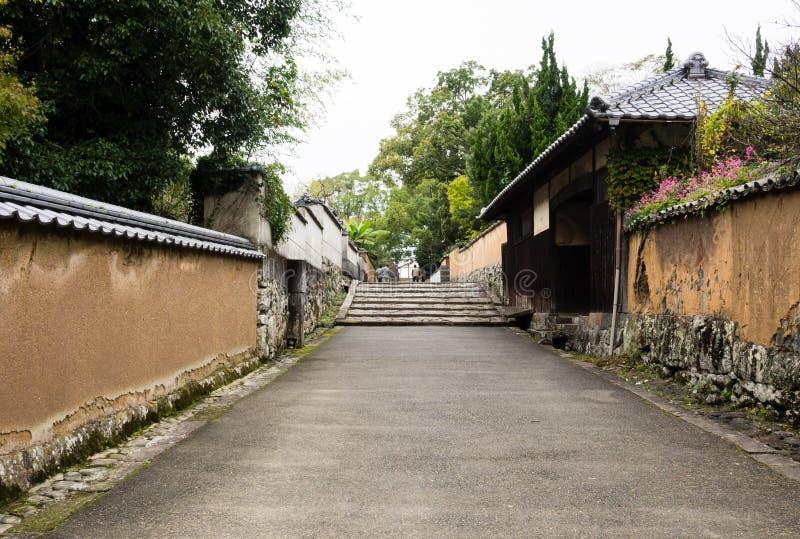 Historyczny japończyka kasztelu miasteczko Kitsuki, Oita prefektura zdjęcia stock