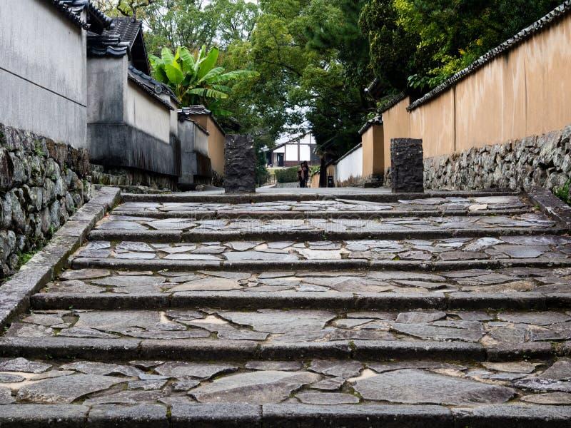 Historyczny japończyka kasztelu miasteczko Kitsuki, Oita prefektura zdjęcie stock