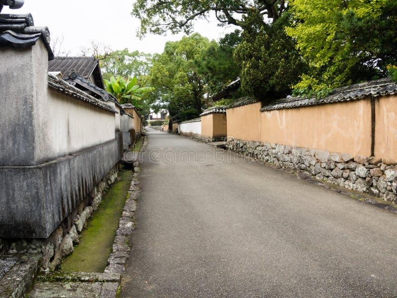 Historyczny japończyka kasztelu miasteczko Kitsuki, Oita prefektura obrazy stock