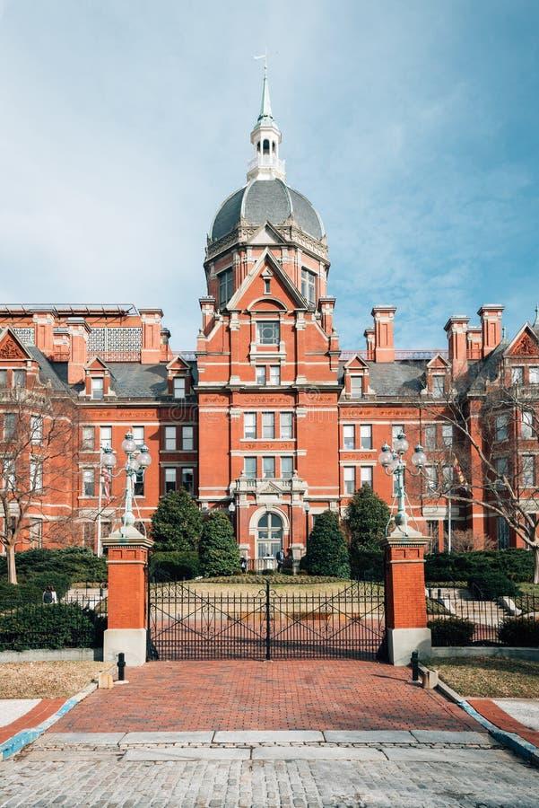Historyczny Johns Hopkins Szpitalny budynek w Baltimore, Maryland obrazy royalty free