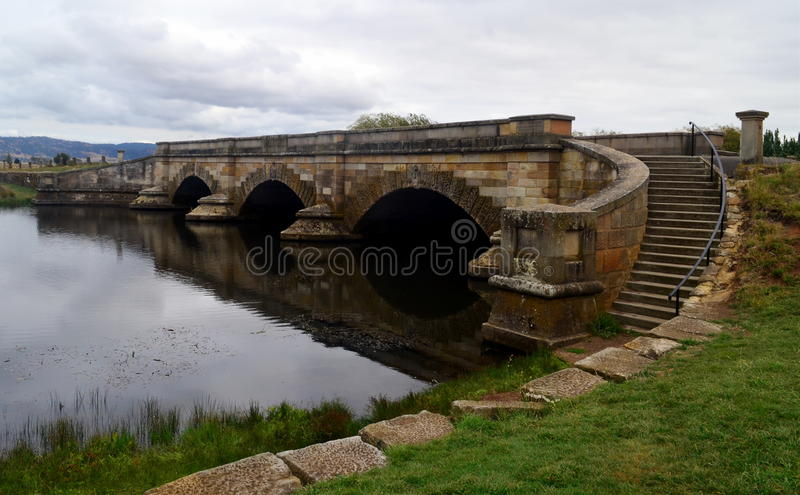 Historyczny kamienny Richmond most, Tasmania zdjęcia royalty free