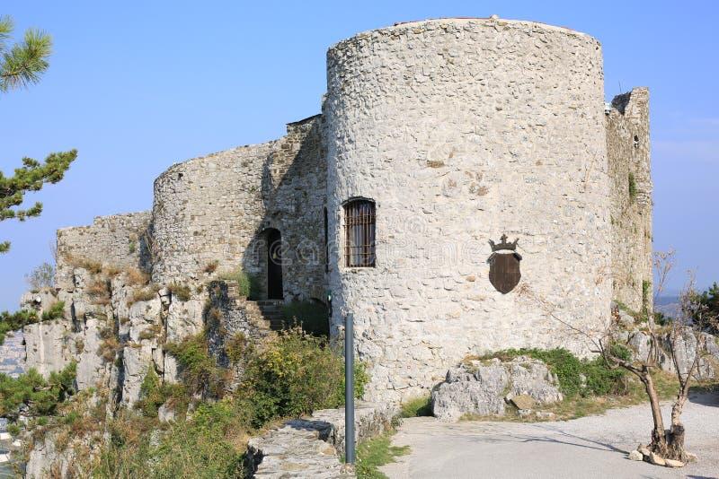 Historyczny Kastalec kasztel w Slovenia zdjęcia stock