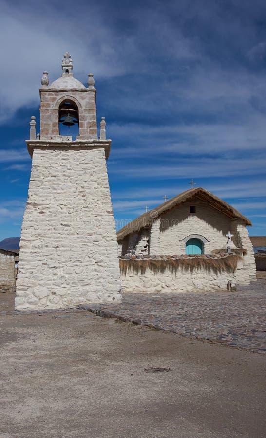 Historyczny kościół na Altiplano zdjęcie royalty free