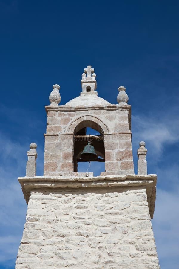 Historyczny kościół na Altiplano obraz royalty free