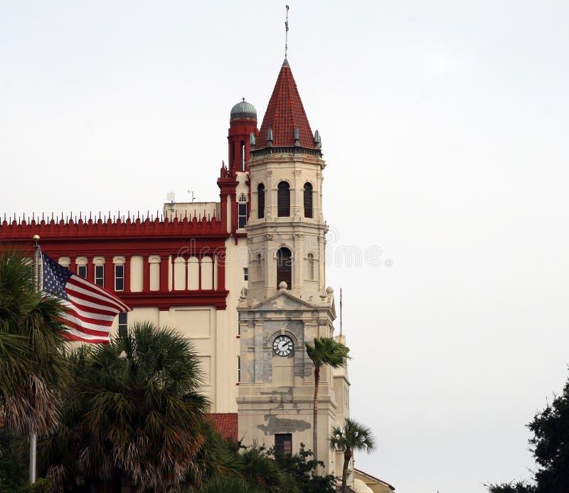 Historyczny kościół w śródmieścia St Augustine Floryda zdjęcie stock