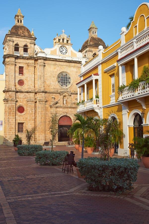 Historyczny kościół w Cartagena obraz royalty free