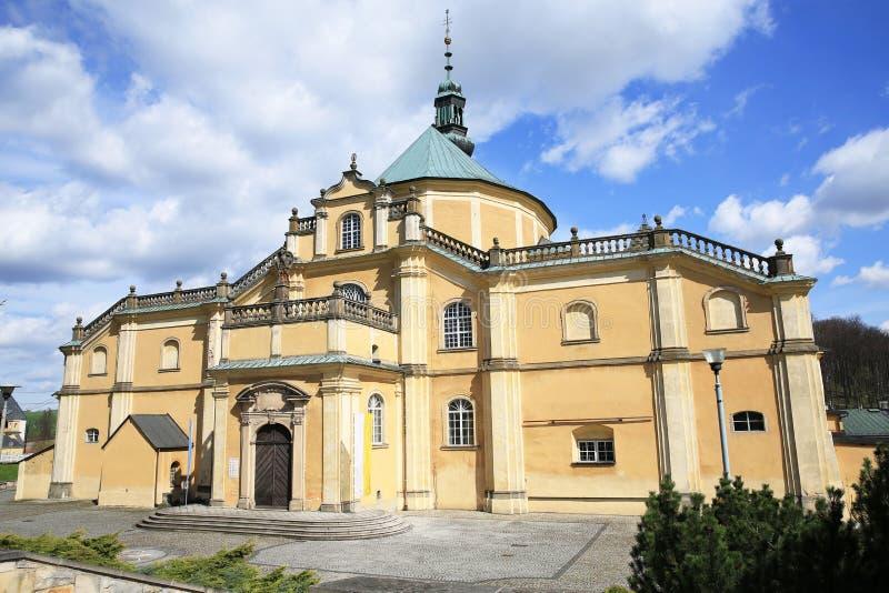 Historyczny kościół w Wambierzyce, Polska fotografia stock