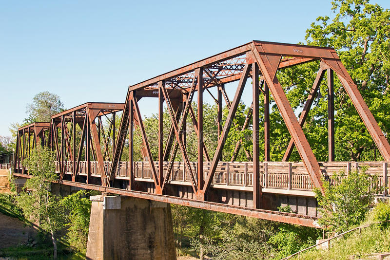 Historyczny kobyłka pociągu most obrazy royalty free