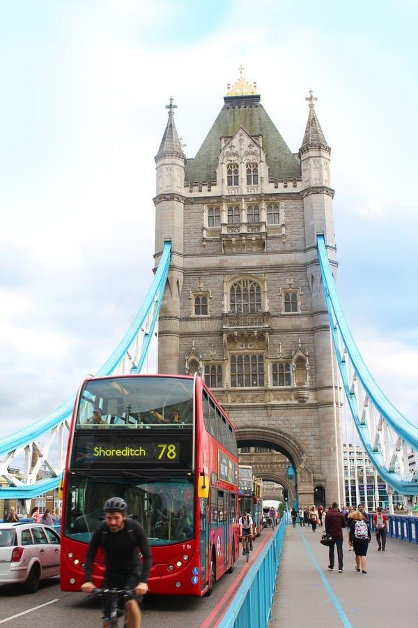 Historyczny Londyn most obrazy stock