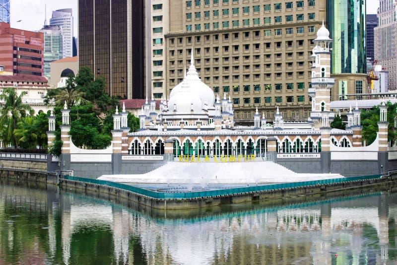 Historyczny meczet, Masjid Jamek przy Kuala Lumpur obraz stock