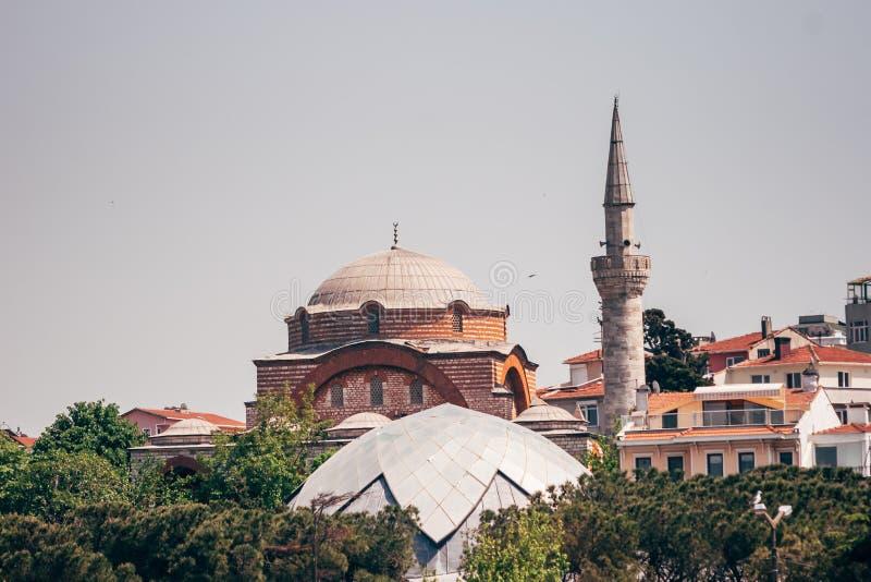 Historyczny Meczetowy Pobliski morze w Istanbuł, Turcja obraz royalty free