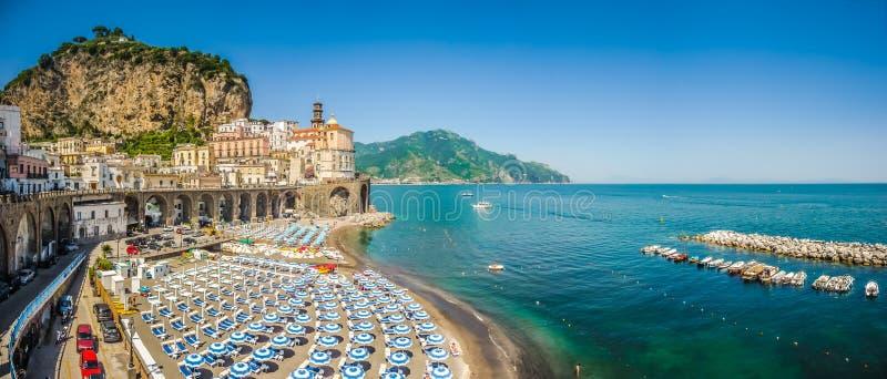 Historyczny miasteczko Atrani, Amalfi wybrzeże, Campania, Włochy obraz stock