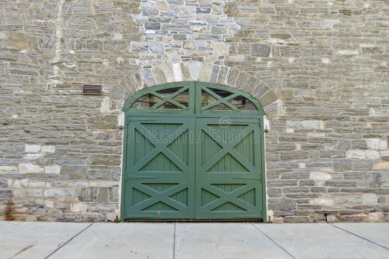 Historyczny miejsce haniebna Conestoga Indiańska masakra, Lancaster, PA zdjęcie stock