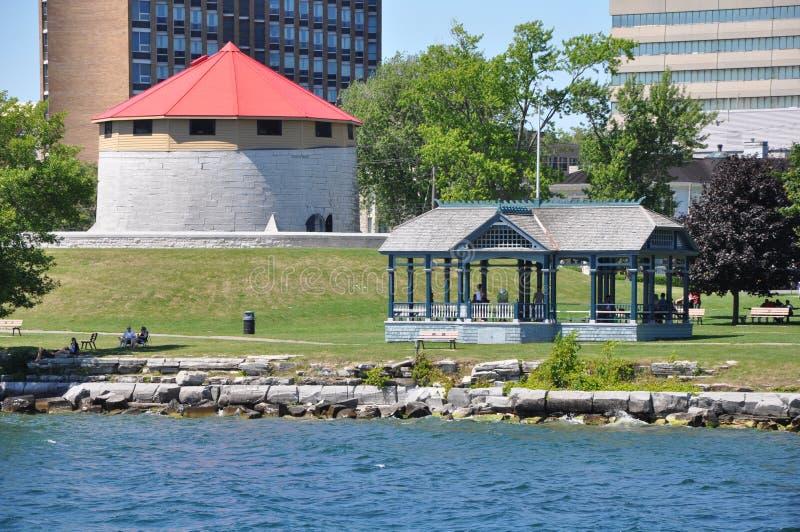 Historyczny nabrzeże Kingston, Ontario obrazy royalty free