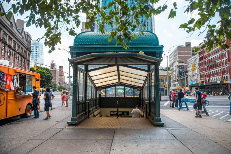 Historyczny NYC metro fotografia royalty free