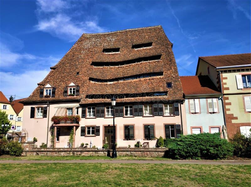 Historyczny sól dom Maison Du Sel w Wissembourg obrazy stock