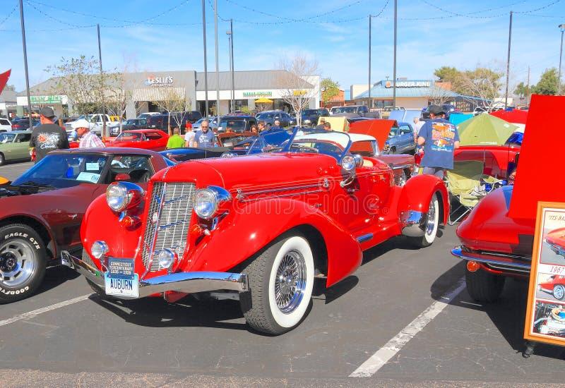 Historyczny samochód: 1936 Kasztanowych Speedster zdjęcie stock