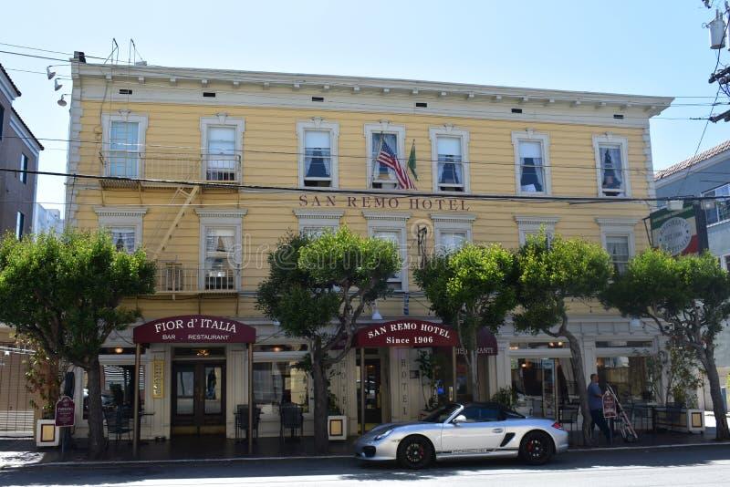 Historyczny San Remo hotel historyczny Fior d ` Italia zdjęcie stock