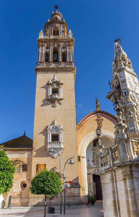 Historyczny Santa Maria kościół w centrum Ecija zdjęcia stock