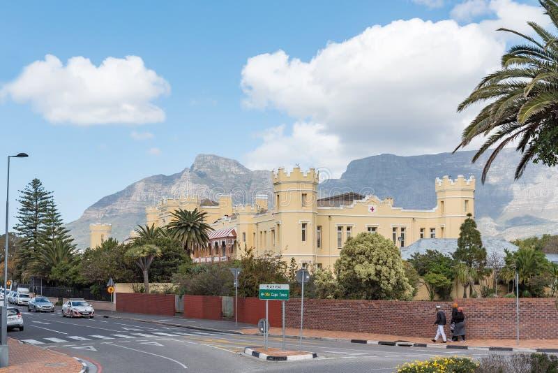Historyczny Somerset szpital w Zielonym punkcie w Kapsztad obraz royalty free