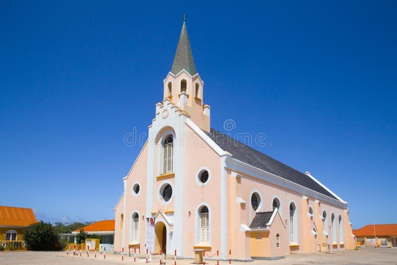 Historyczny St Ann ` s kościół rzymsko-katolicki w Noord Aruba fotografia royalty free