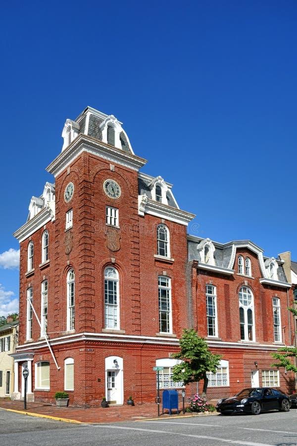 Historyczny Stams Hall w Chestertown Maryland obrazy stock