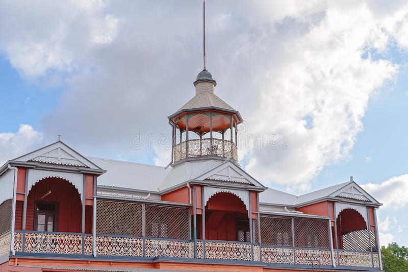 Historyczny Stary Australijski hotel Typowy projekt zdjęcia royalty free