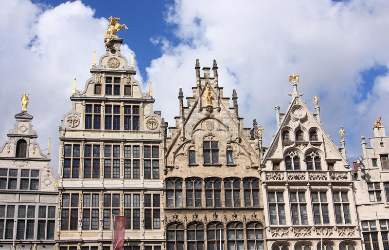 historyczny stary miasteczko Antwerp zdjęcie stock