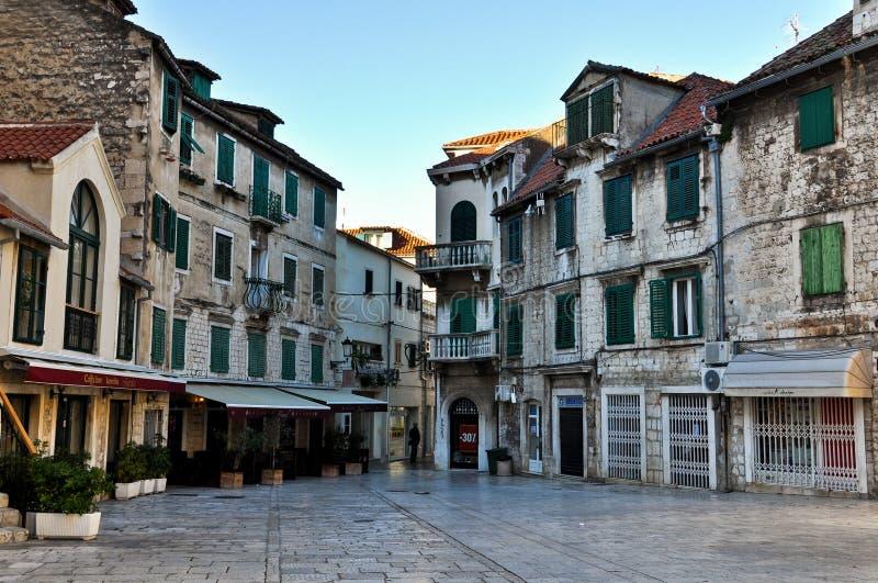 Historyczny Stary miasteczko rozłam w Chorwacja zdjęcia royalty free