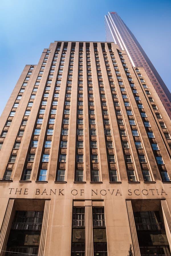 Historyczny sztuka bank nowa Scotia w Toronto obraz stock