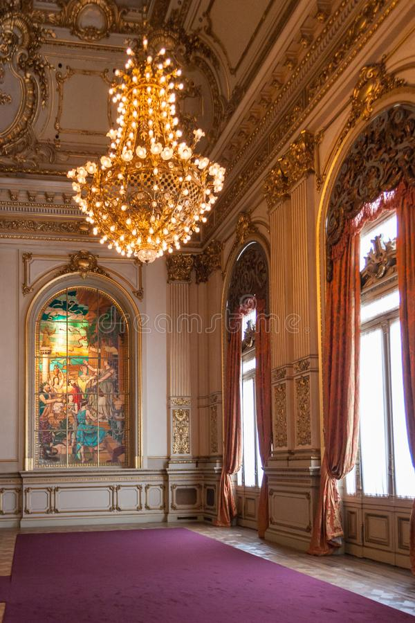 Historyczny Teatro dwukropek w Buenos Aires obrazy stock