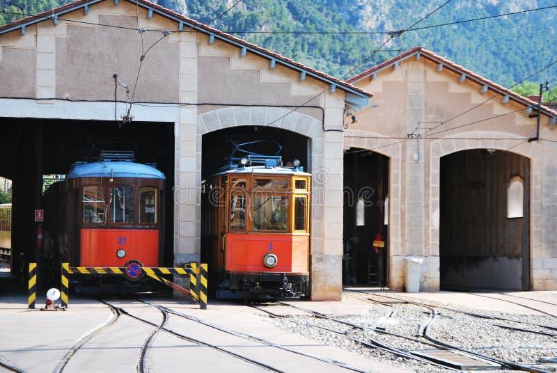 Historyczny tramwaj. Soller Mallorca, Hiszpania. fotografia stock