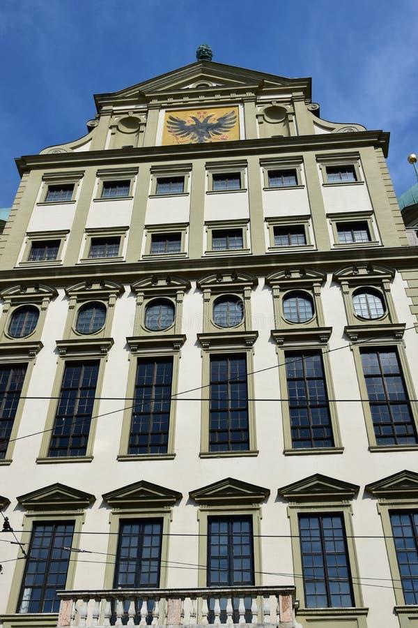 Historyczny urząd miasta w Augsburskim, Niemcy (Rathaus) fotografia stock
