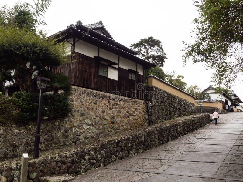 Historyczny w centrum Kitsuki, stary japończyka kasztelu miasteczko obrazy royalty free