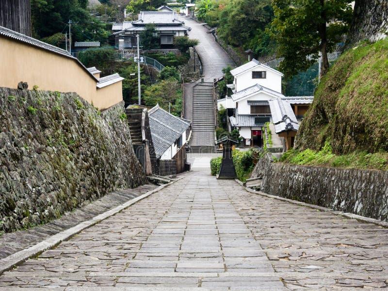Historyczny w centrum Kitsuki, stary japończyka kasztelu miasteczko w Oita prefekturze zdjęcia stock