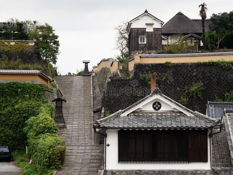 Historyczny w centrum Kitsuki, stary japończyka kasztelu miasteczko w Oita prefekturze obrazy royalty free