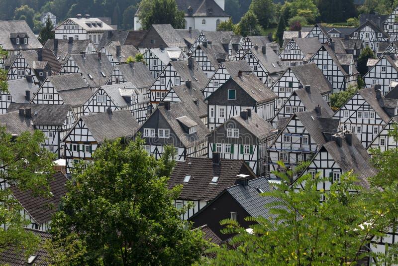 Historyczny wioski freudenberg Germany zdjęcie stock